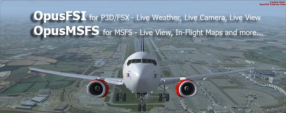 OpusFSI Flight Simulator Interface for FSX, FSX Steam Edition and Prepar3D