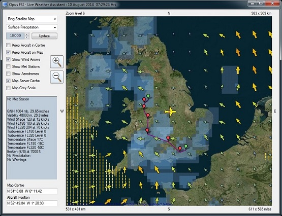 OpusFSI Live Weather Assistant Map