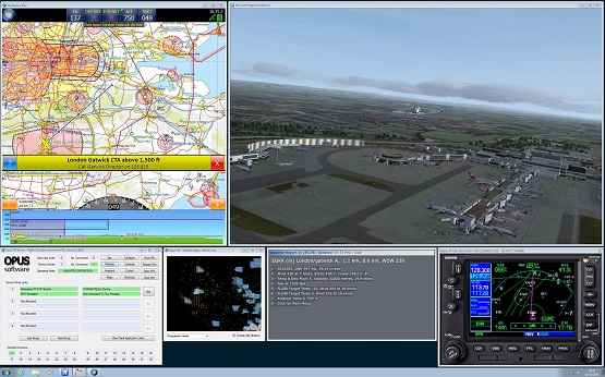 GPS Output feature for 3rd party Navigation and Flight Planning packages such as the excellent real-world SkyDemon PC software
